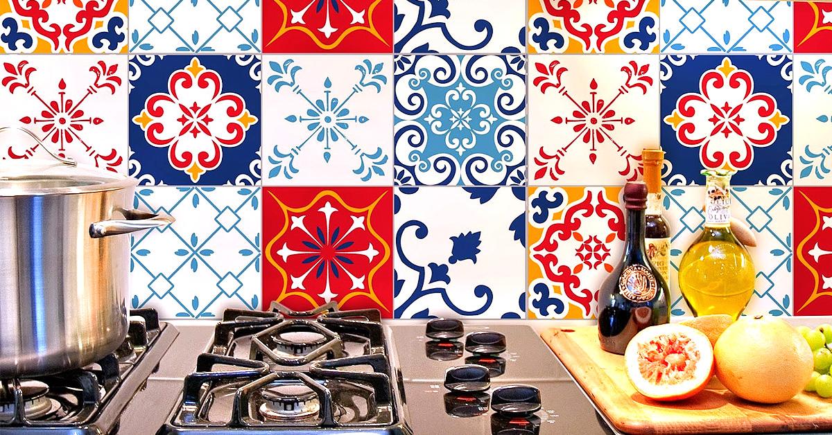 Painéis de azulejos decorativos